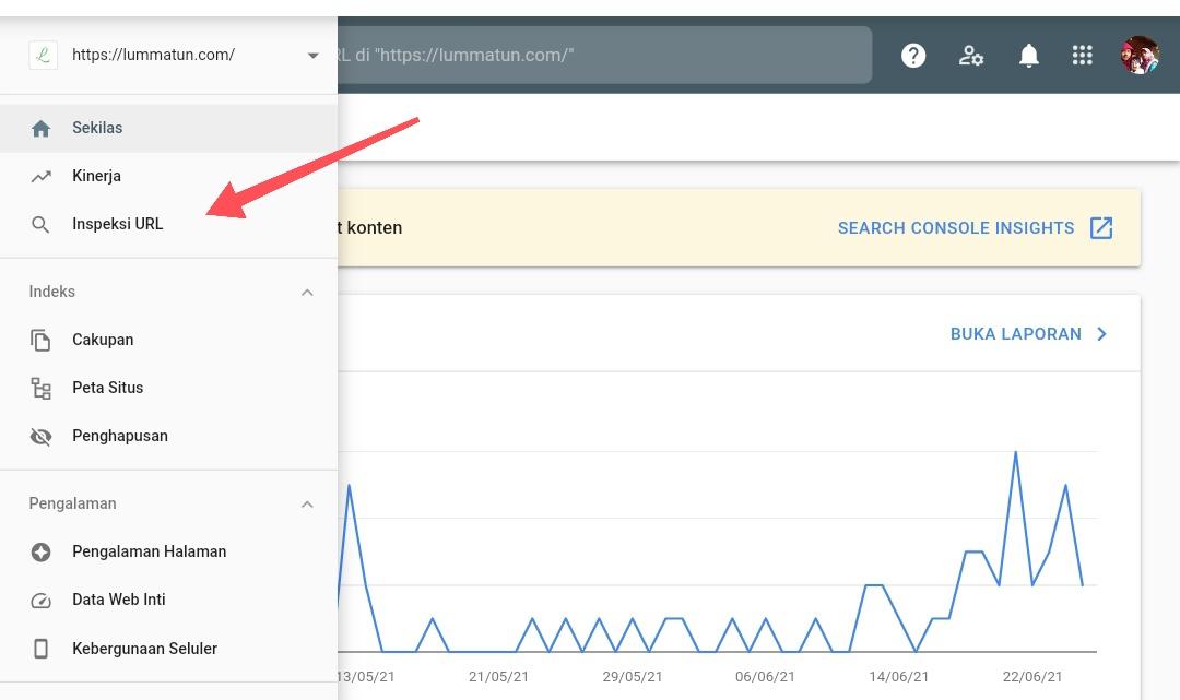 Menggunakan webmaster tools Google