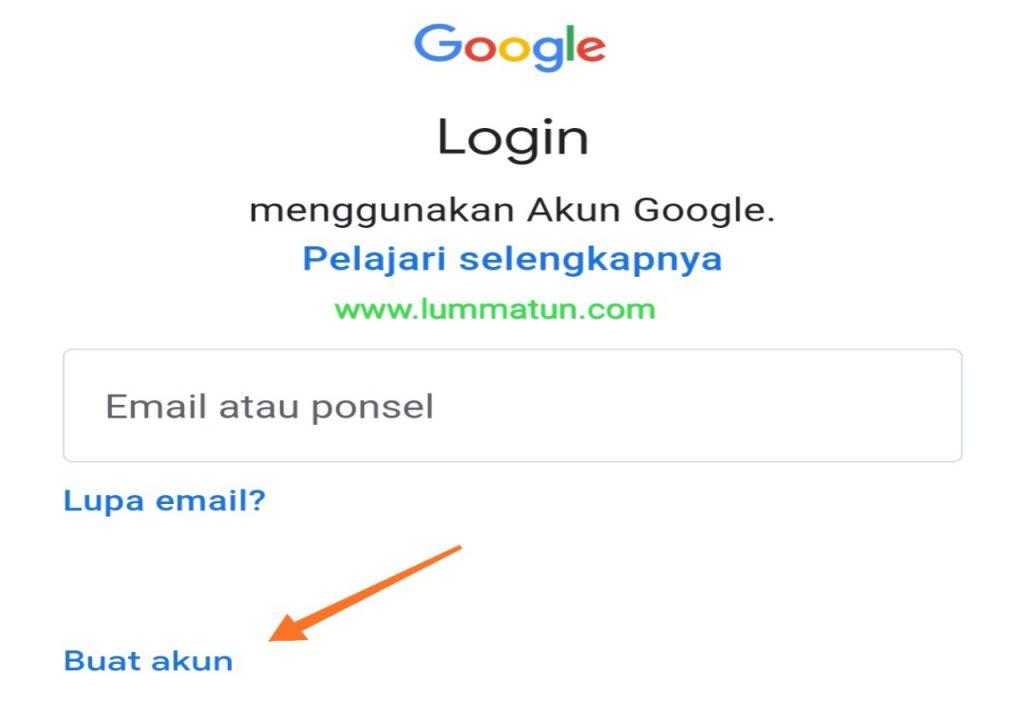 Buat akun Google gmail