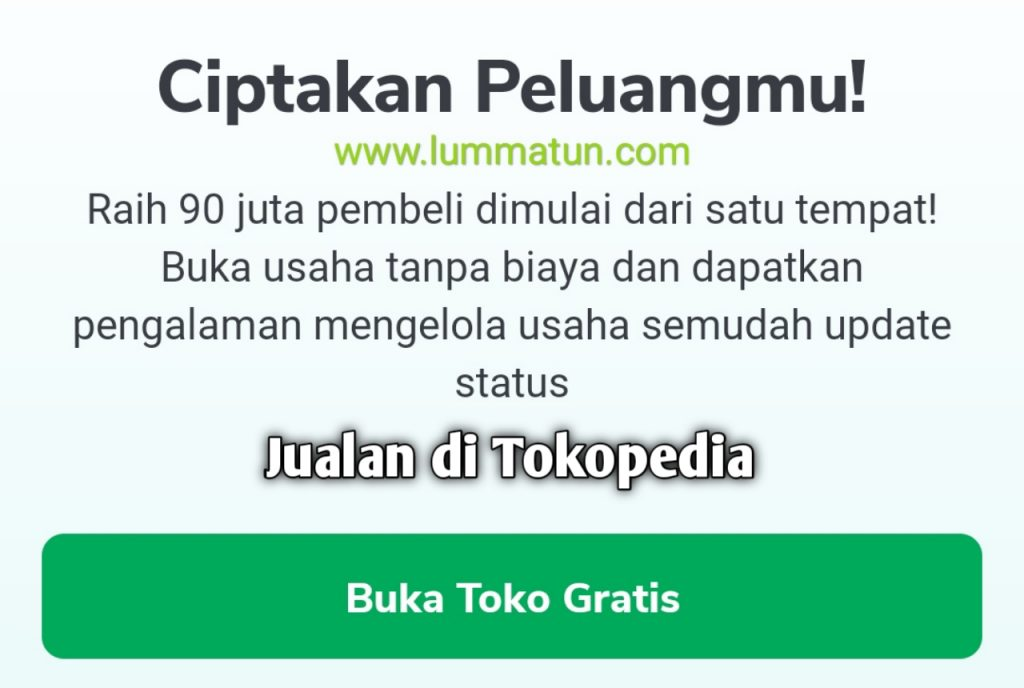 Jualan di Tokopedia