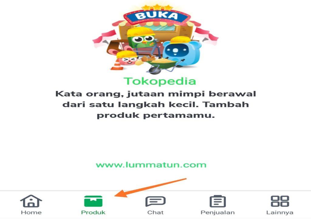Pilih menu produk
