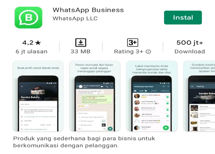 Menggunakan WhatsApp business